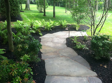 irregular bluestone walkway