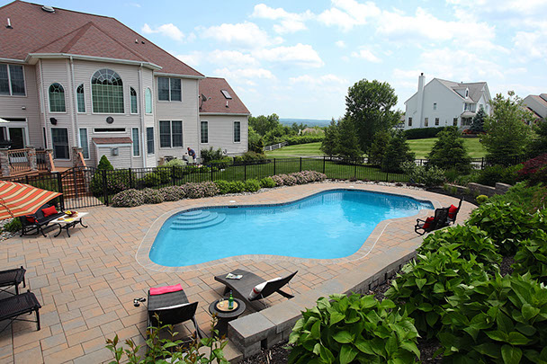 Suburban family pool.