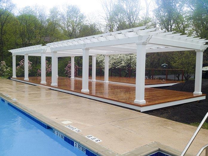 pool club pergolas