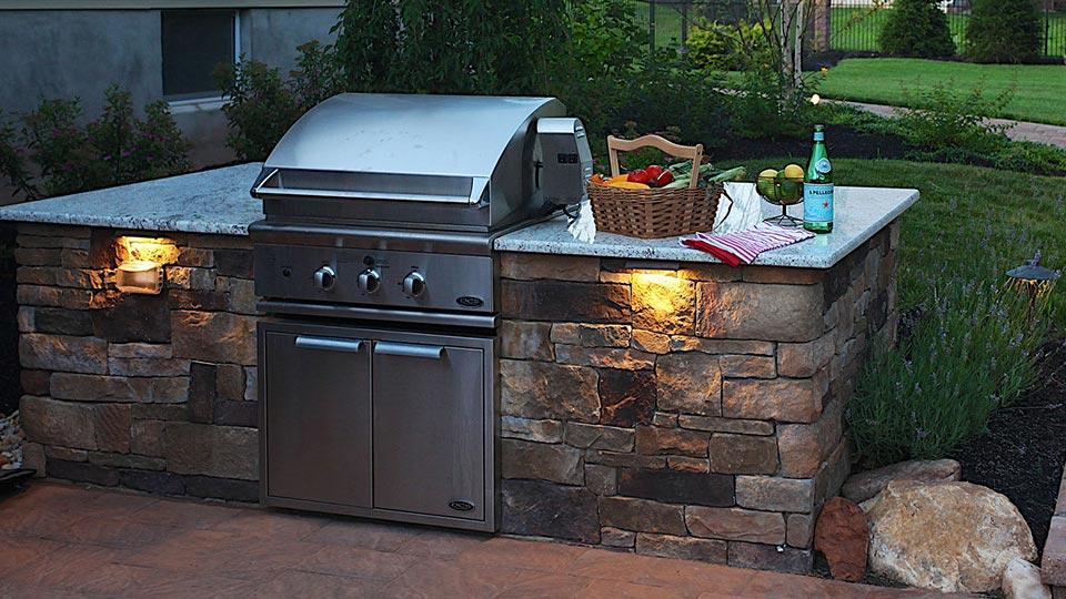 Built In Grills Bbq Island Outdoor Kitchen Ideas Images Pictures Lambertville Nj