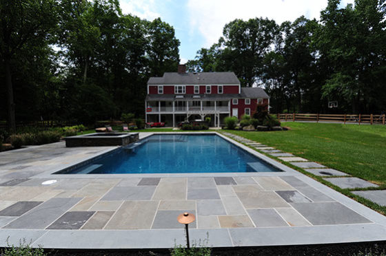 Natural Blue-stone Rectangular Pool