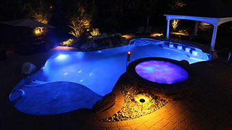 Inground pools at night Outside Inground Pools Beauteeful Living Inground Pools In Ground Pools Pool Renovations Nj Salt Water