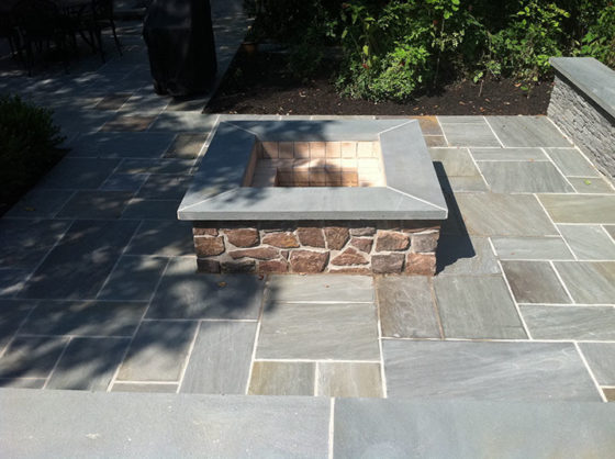 Bluestone Fire Pit Patio