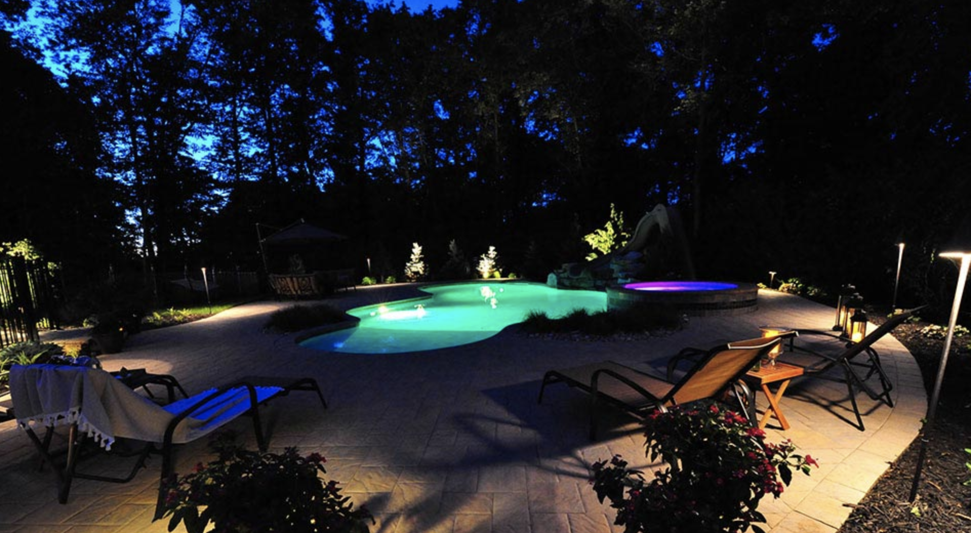 Central Jersey Landscape Lighting Designer Green View Designs