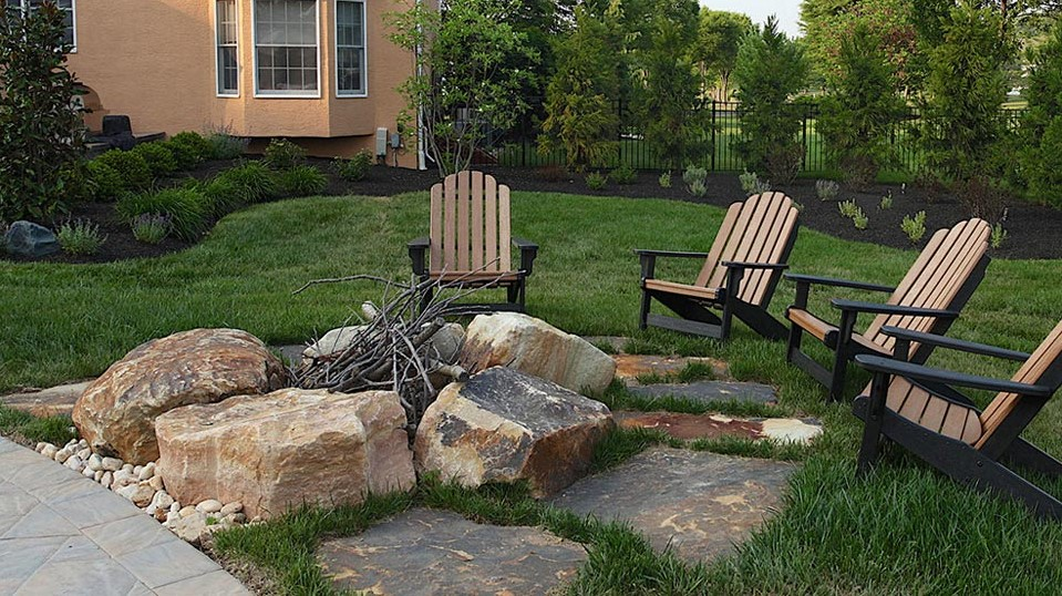 Bucks County Outdoor Fire Pit
